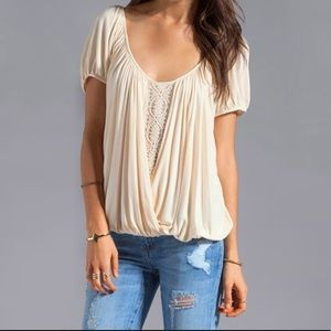 Free People Ann's Ruched Top in Tea Size Medium